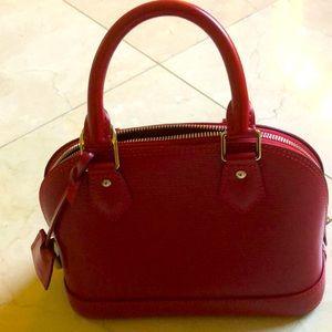 Alma BB Epi leather Carmin color